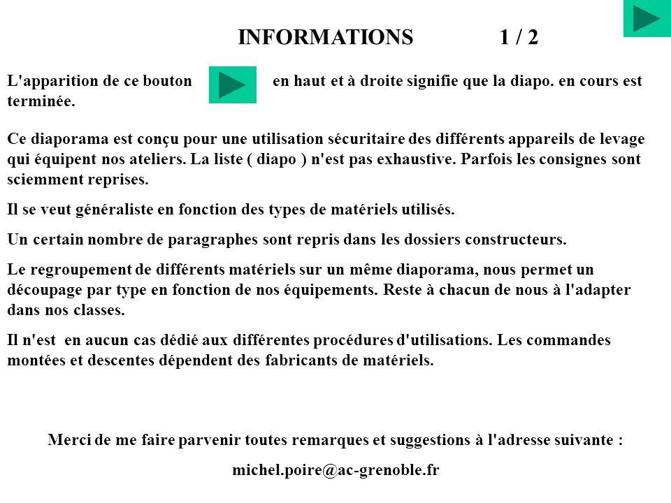 Informations diapositives.1° Partie diapo. 1 à 8Réglementation Informations 2° Partie diapo.