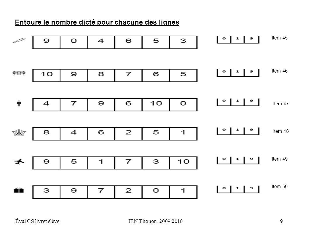 Exercice 7 Compétence : dénombrer une quantité en utilisant la suite des nombres connus Combien y a- t-il d objets .