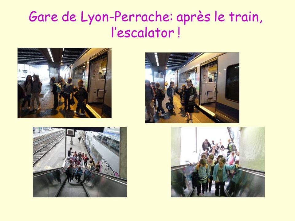 Gare de Lyon-Perrache: après le train, lescalator !