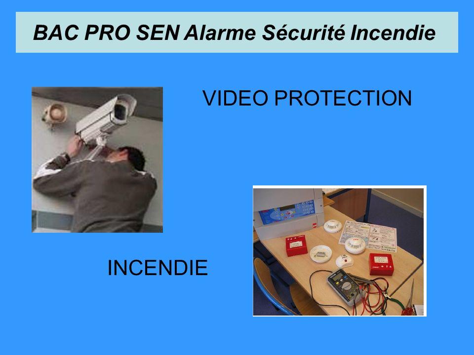VIDEO PROTECTION INCENDIE BAC PRO SEN Alarme Sécurité Incendie
