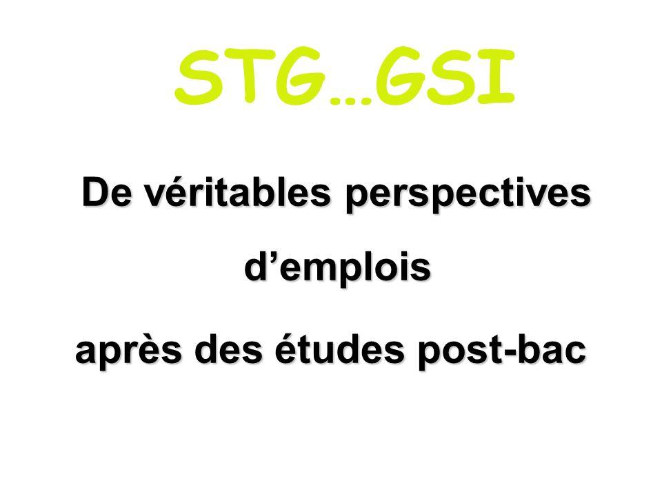 Poursuite détudes STS (Informatique de gestion, Comptabilité et gestion, Banque, Assurance, Assistant de gestion PME-PMI…) IUT (Informatique, Service