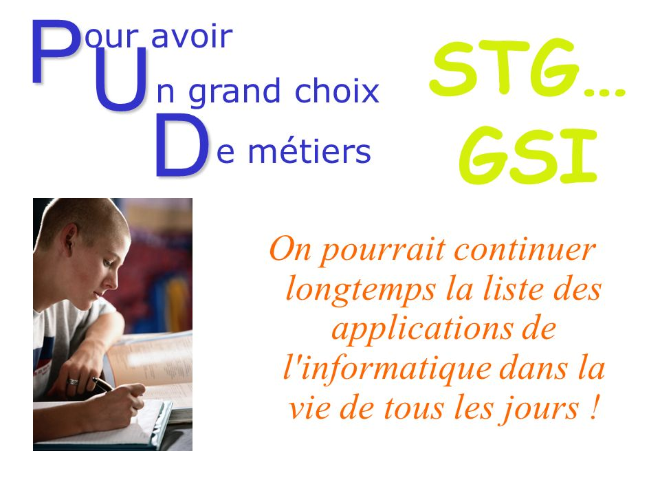 GESTION DES SYSTEMES DINFORMATION TERMINALE S.T.G.