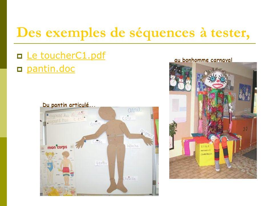 Des exemples de séquences à tester, Le toucherC1.pdf pantin.doc Du pantin articulé … au bonhomme carnaval