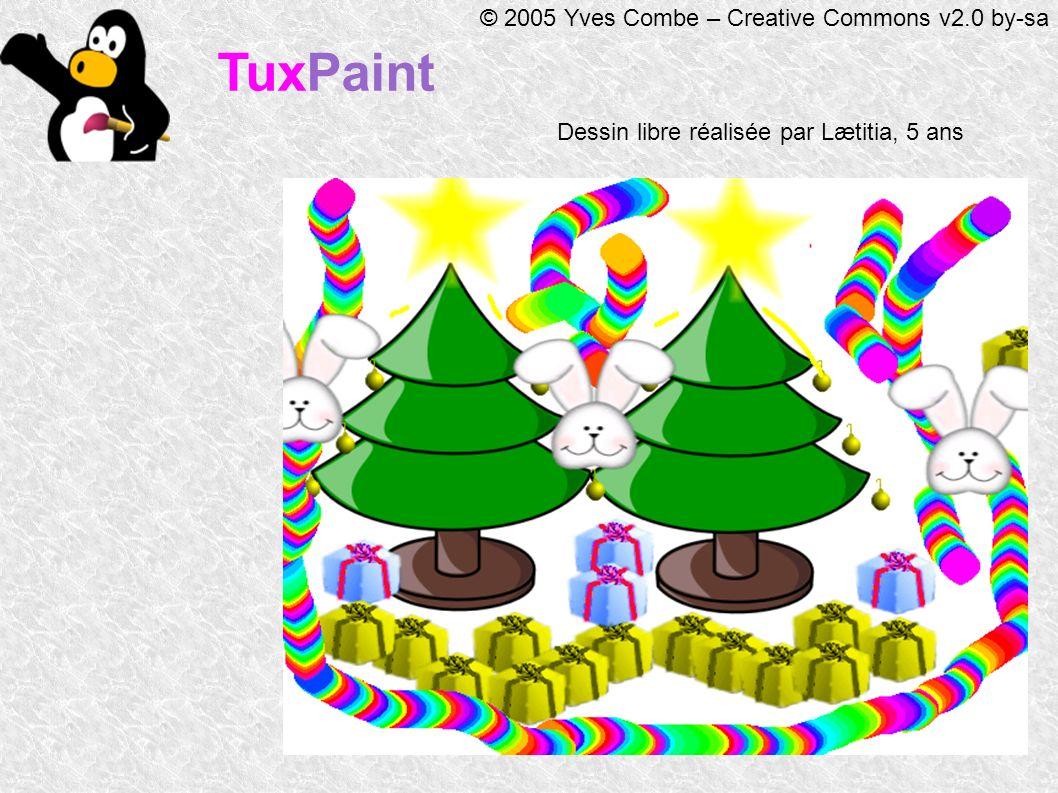 TuxPaint © 2005 Yves Combe – Creative Commons v2.0 by-sa Dessin libre réalisée par Lætitia, 5 ans