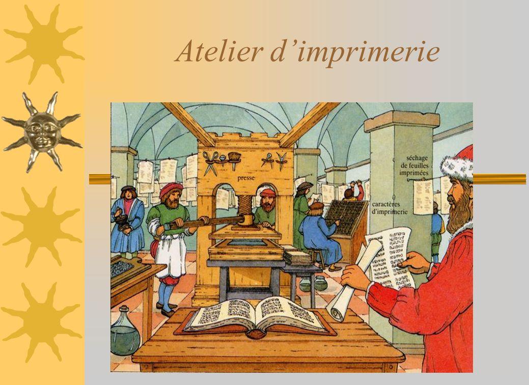 Moine copiste du Moyen- Age Imprimerie