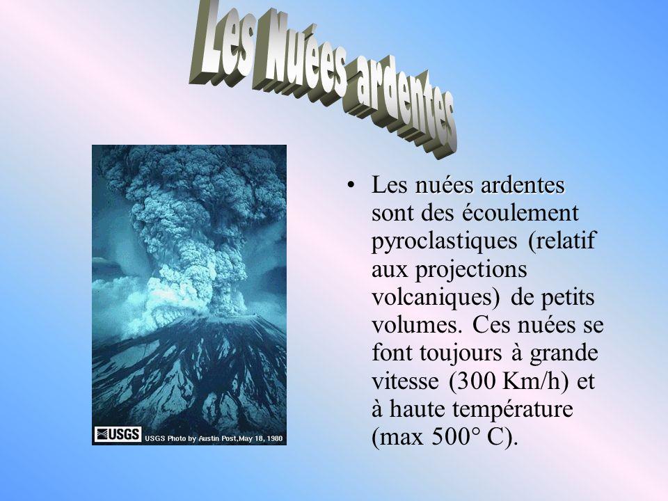 Les n nn nuées ardentes sont des écoulement pyroclastiques (relatif aux projections volcaniques) de petits volumes. Ces nuées se font toujours à grand