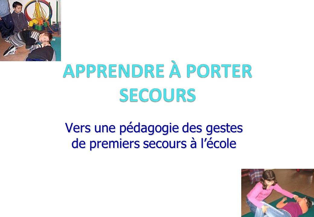 Groupe PAE3 - Isère - juin 2008 Vers une pédagogie des gestes de premiers secours à lécole