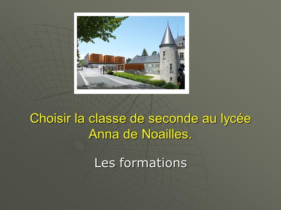 Choisir la classe de seconde au lycée Anna de Noailles. Choisir la classe de seconde au lycée Anna de Noailles. Les formations