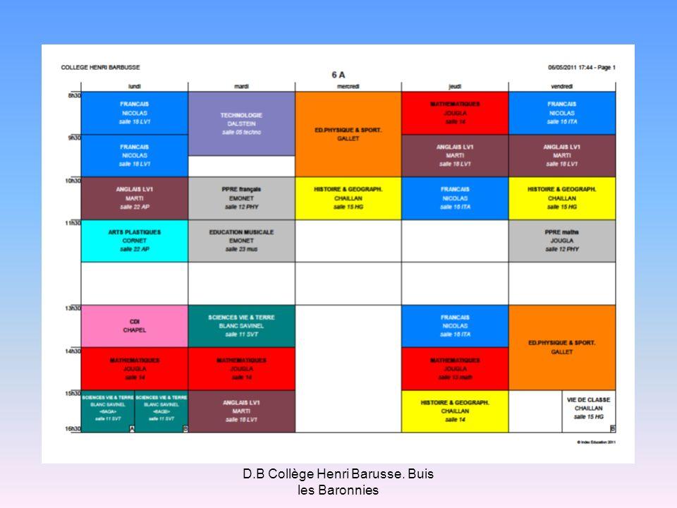 D.B Collège Henri Barusse. Buis les Baronnies