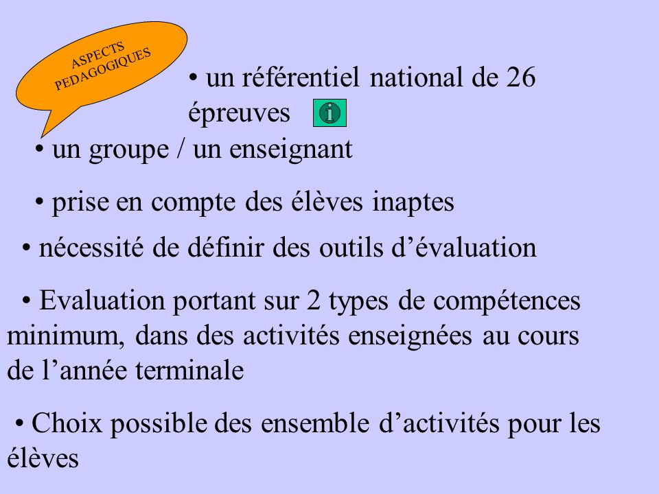 LES POINTS COMMUNS CAP- BEP-BMA-BAC.