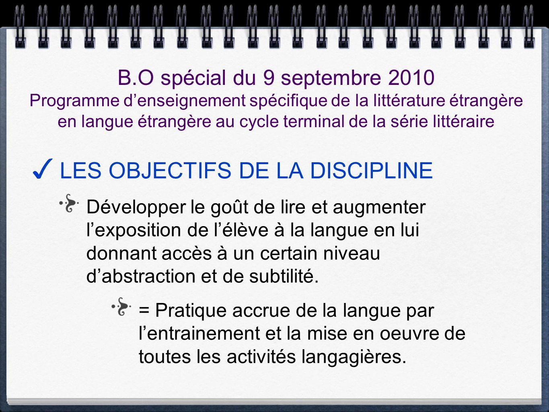 LES OBJECTIFS DE LA DISCIPLINE Développer le goût de lire et augmenter lexposition de lélève à la langue en lui donnant accès à un certain niveau dabs