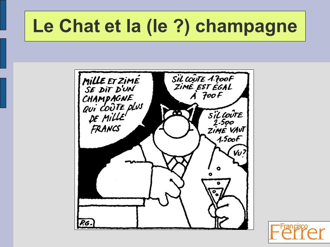 Le Chat et la (le ?) champagne