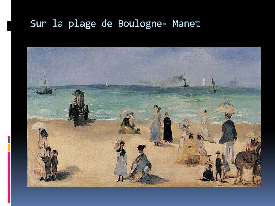 Sur la plage de Boulogne- Manet