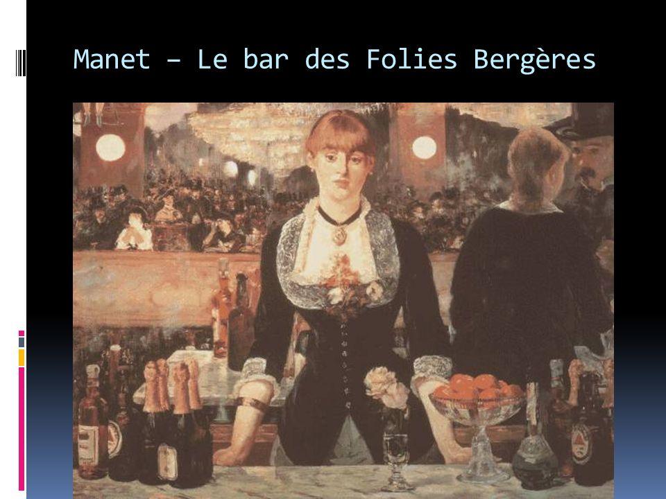 Manet – Le bar des Folies Bergères