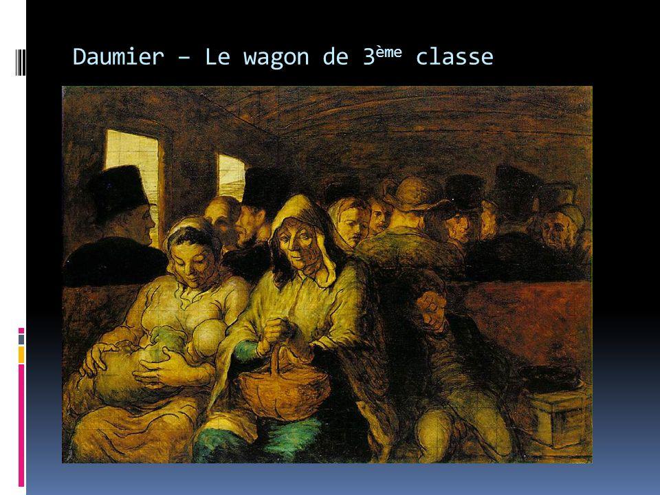 Daumier – Le wagon de 3 ème classe