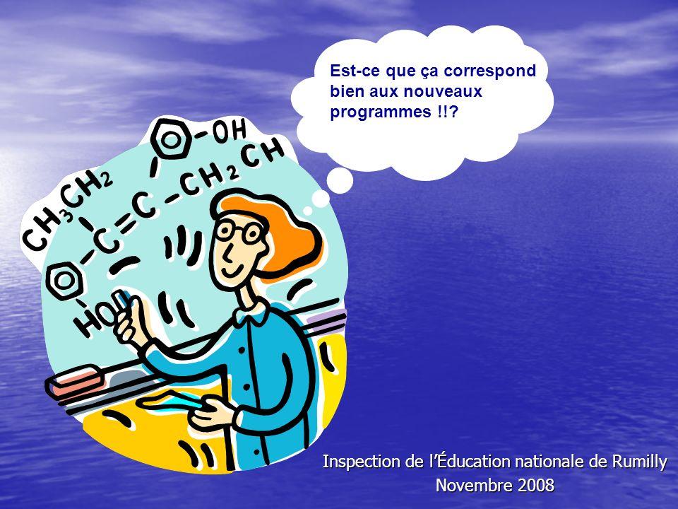 Inspection de lÉducation nationale de Rumilly Novembre 2008 Est-ce que ça correspond bien aux nouveaux programmes !!?