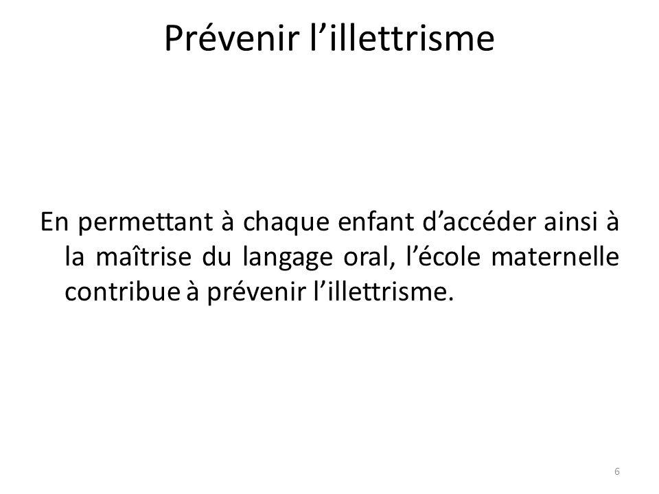 7 1.Maîtrise de la langue et prévention de lillettrisme : mêmes enjeux V.BOUYSSE IGEN 1.1.