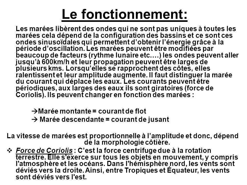 Les usines Marémotrices: Lusine marémotrice la plus connue en France, est celle de la Rance située en Ille et vilaine.