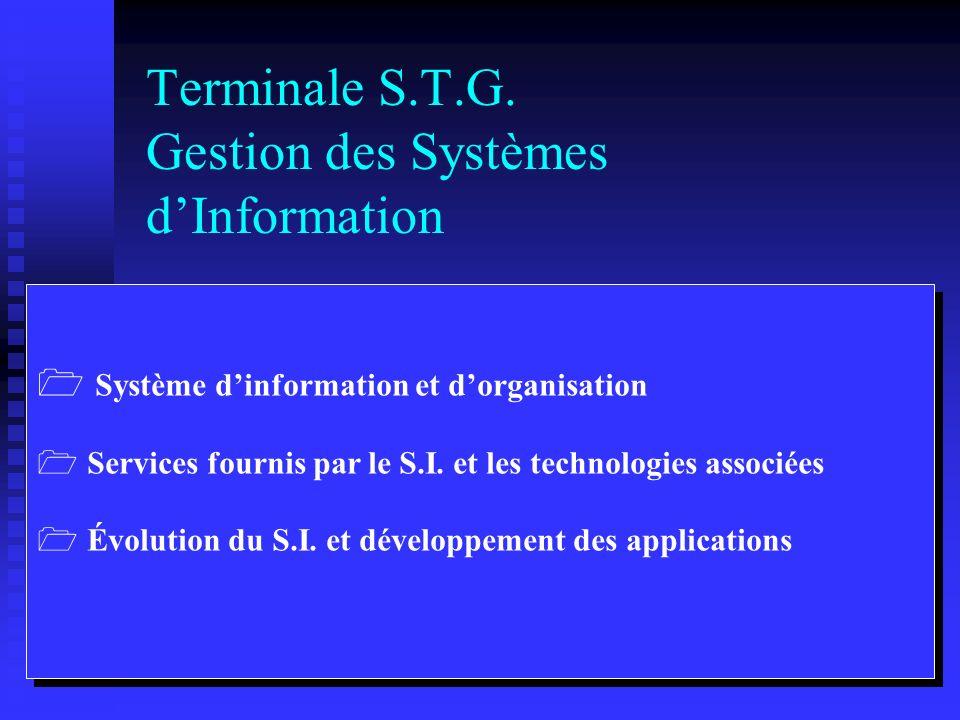 Terminale S.T.G. Comptabilité et Finance dEntreprise Organisation de la comptabilité dans lentreprise Production de linformation financière Organisati