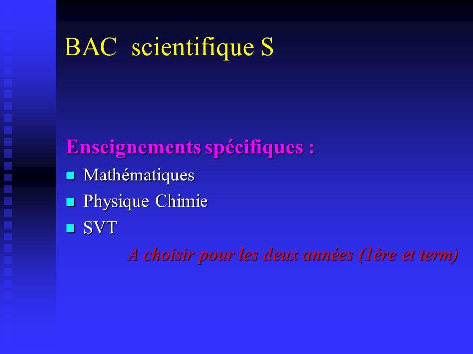 Le Baccalauréat S Une dominante scientifique Math, physique/chimie, SVT Math, physique/chimie, SVT Points forts Rigueur, méthode Rigueur, méthode Goût