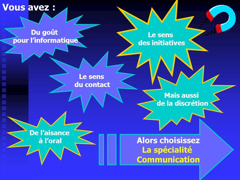 EN PREMIERE S.T.G. 2 spécialités PREMIERE COMMUNICATION S.T.G. PREMIERE GESTION