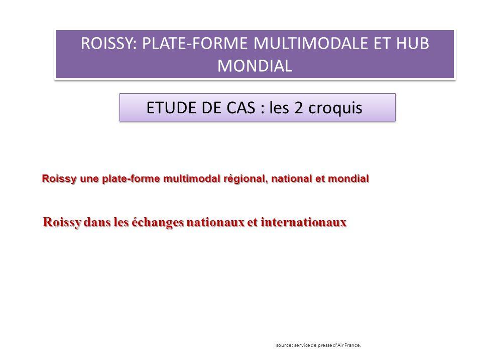 ROISSY: PLATE-FORME MULTIMODALE ET HUB MONDIAL ETUDE DE CAS : les 2 croquis source: service de presse dAir France. Roissy une plate-forme multimodal r