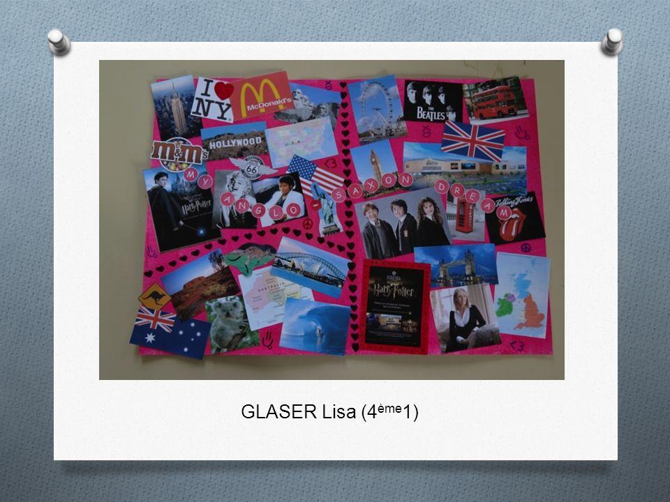 GLASER Lisa (4 ème 1)