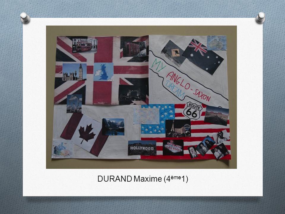 DURAND Maxime (4 ème 1)