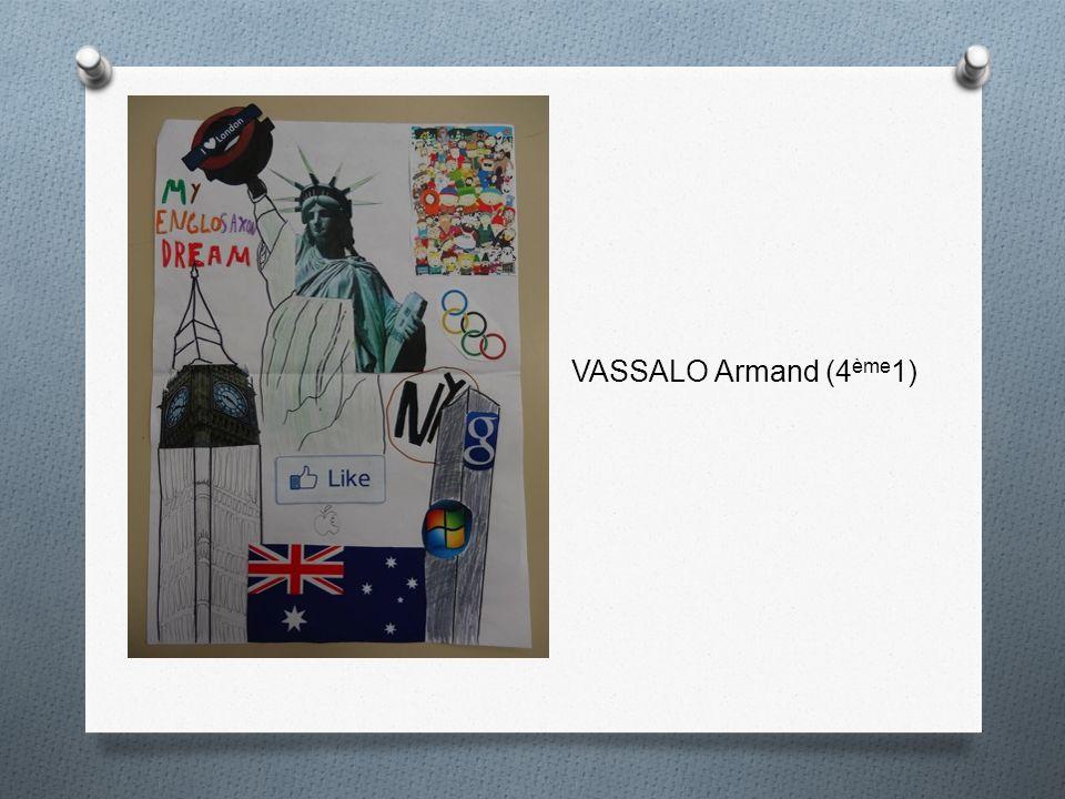VASSALO Armand (4 ème 1)