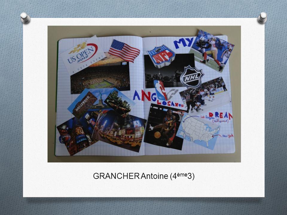 GRANCHER Antoine (4 ème 3)
