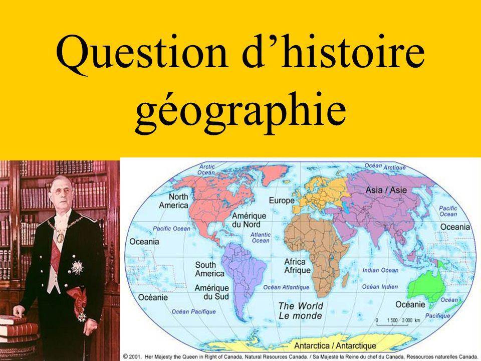 Question dhistoire géographie