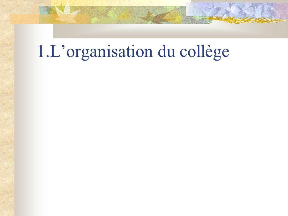 1.Lorganisation du collège