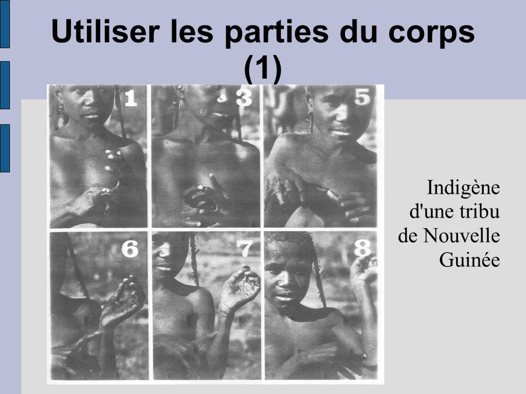 Utiliser les parties du corps (1) Indigène d'une tribu de Nouvelle Guinée