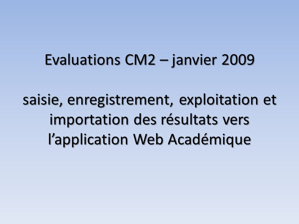 Interface de gestion de lapplication Web Académique ENREGISTREMENT ET IMPORTATION DES RESULTATS