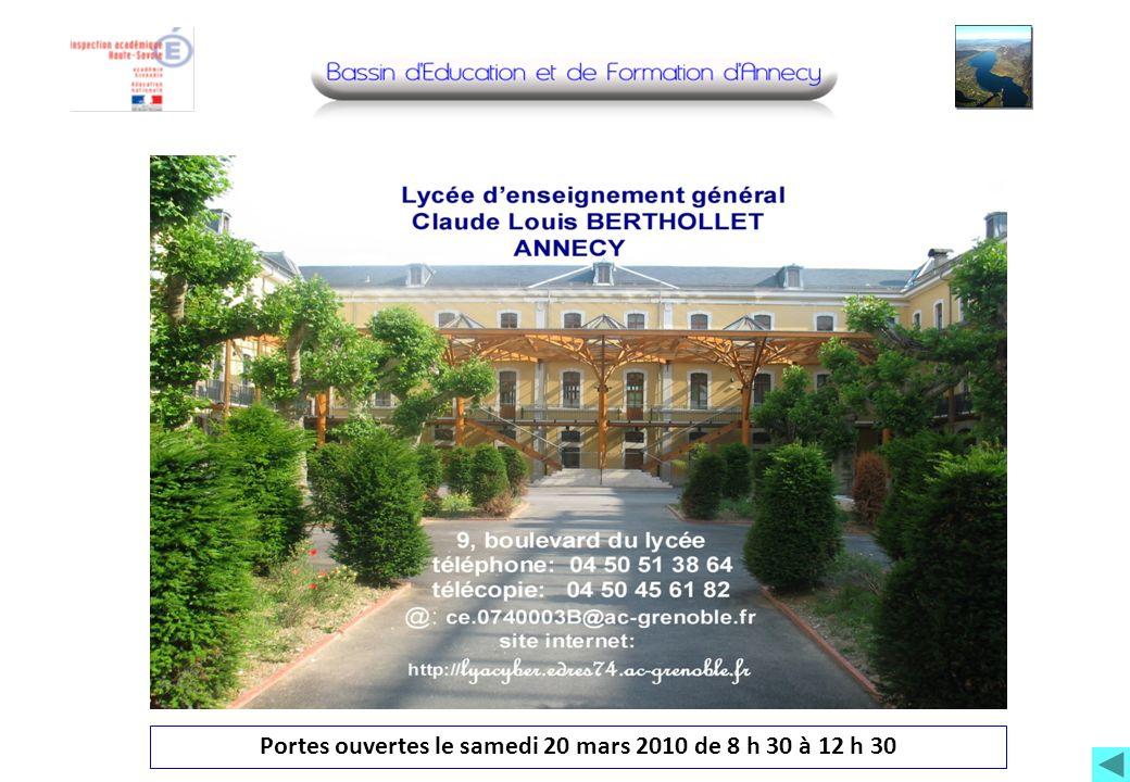 Photo lycée Portes ouvertes le samedi 20 mars 2010 de 8 h 30 à 12 h 30