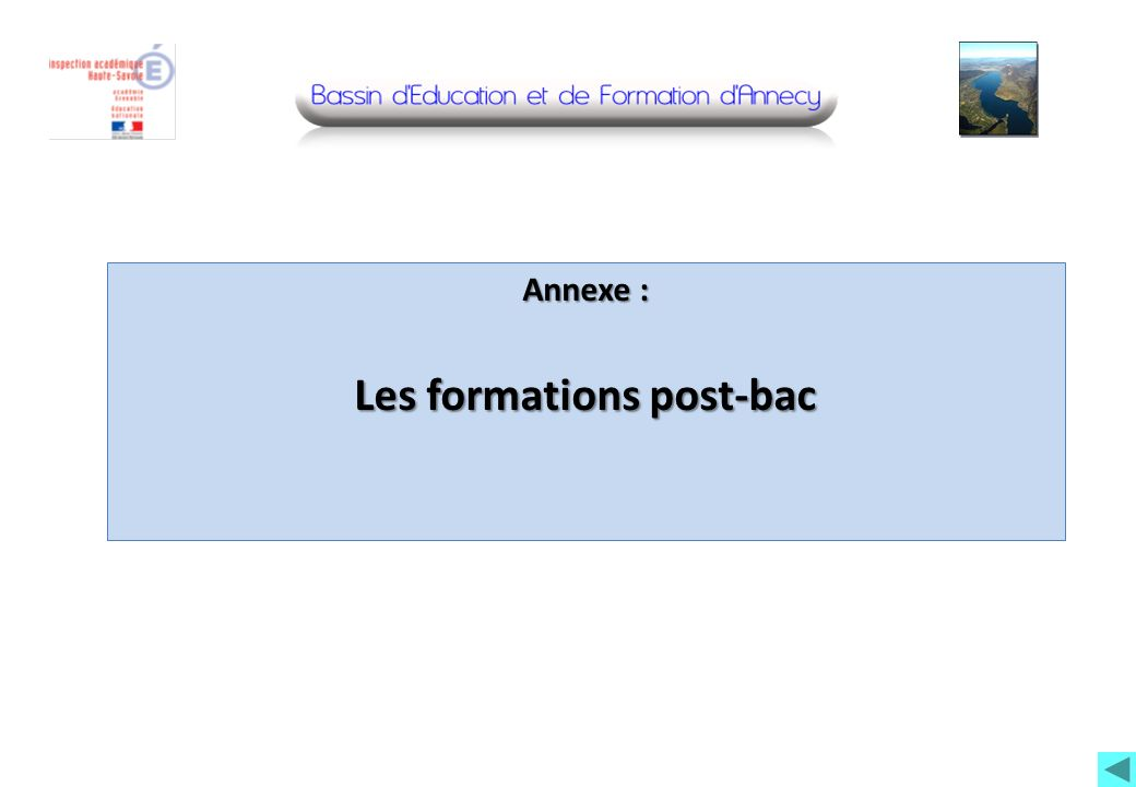 Annexe : Les formations post-bac