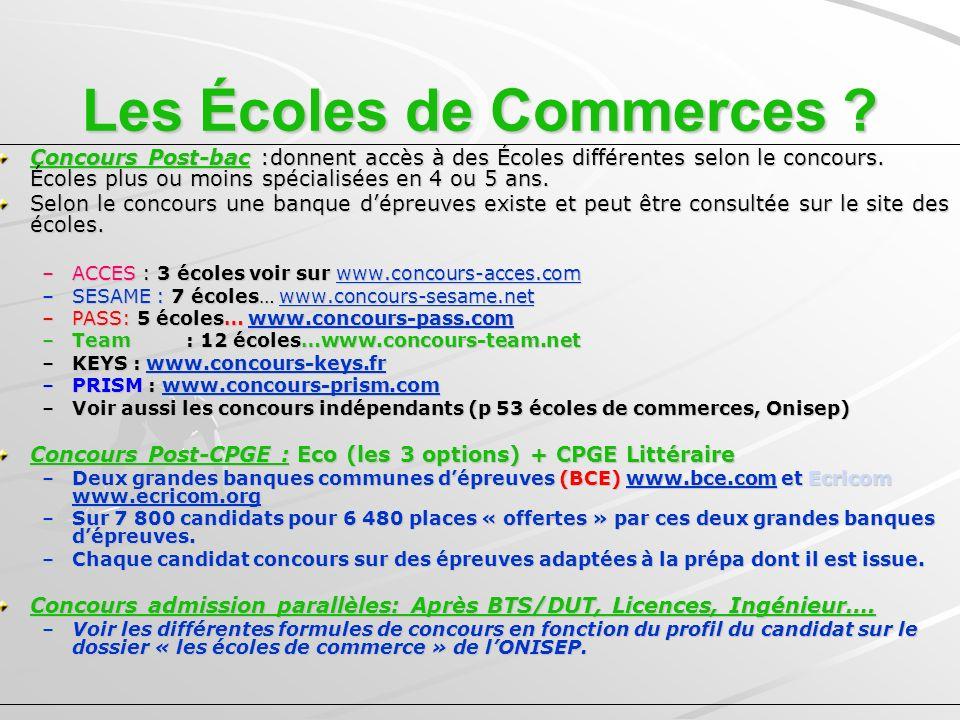 Les Écoles de Commerces .
