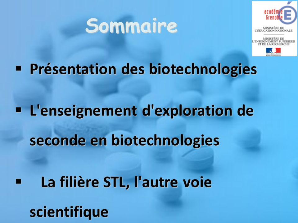 Biotechnologies Une science à part entière Utilisation des potentialités du vivant Des technologies de pointe Des applications quotidiennes sciences et technologies du vivant