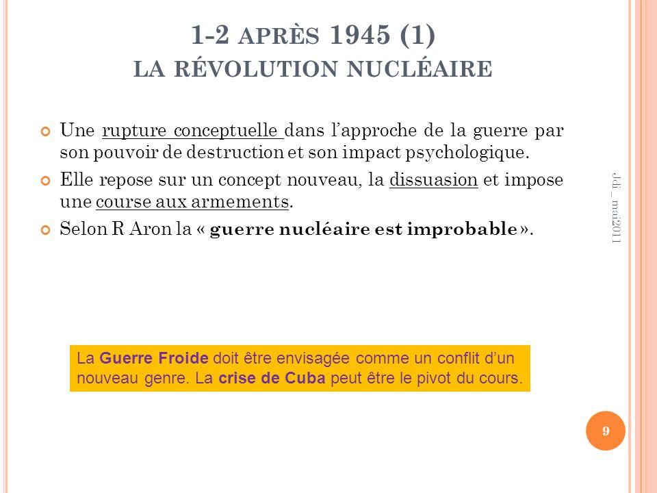 1-2 APRÈS 1945 (2) L ES GUERRES CONVENTIONNELLES A lère nucléaire la guerre conventionnelle interétatique a continué : on en compte plus dune 15aine.