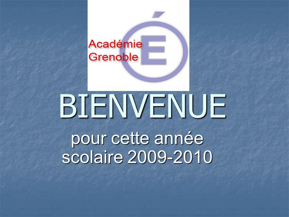 BIENVENUE pour cette année scolaire 2009-2010
