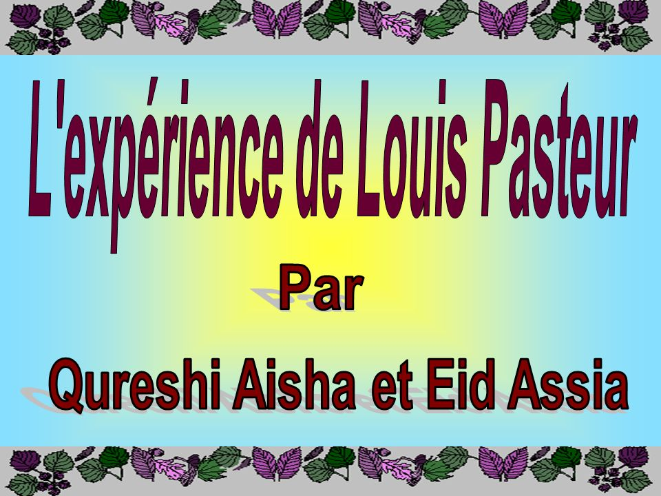Par Aisha Qureshi et Assia Eid École La Dauversière, Montréal, juin 2000 Validation du contenu et révision linguistique: Karine Lefevbre Science animé