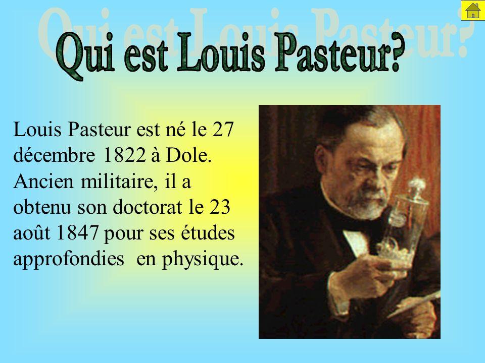 Louis Pasteur est né le 27 décembre 1822 à Dole.