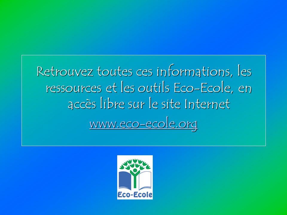 Retrouvez toutes ces informations, les ressources et les outils Eco-Ecole, en accès libre sur le site Internet www.eco-ecole.org