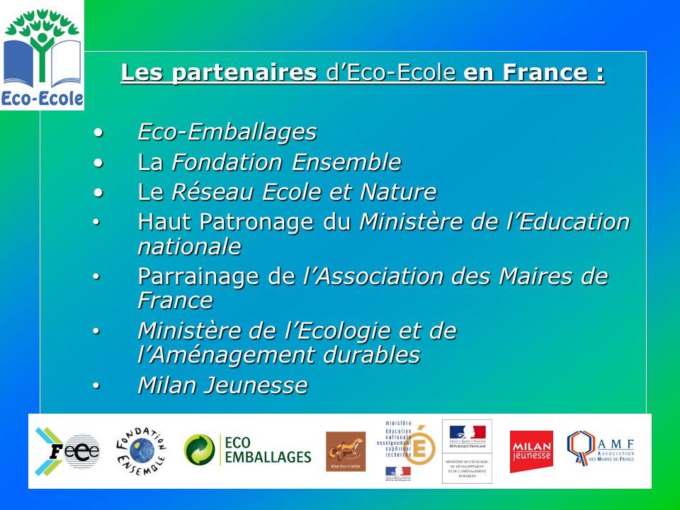 ECO-ECOLE en FranceECO-ECOLE en France - 2005-2006, année pilote : 55 projets - 2006-2007 : 200 projets répartis dans toute la France, dont 86 ont été labellisés lors du Jury de mai 2007.