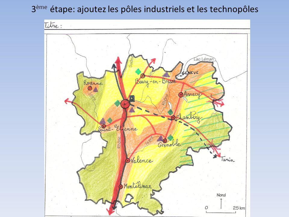 4 ème étape: ajoutez les dynamiques européennes (métropole européenne, zone d influence de Genève, flux transfrontaliers)
