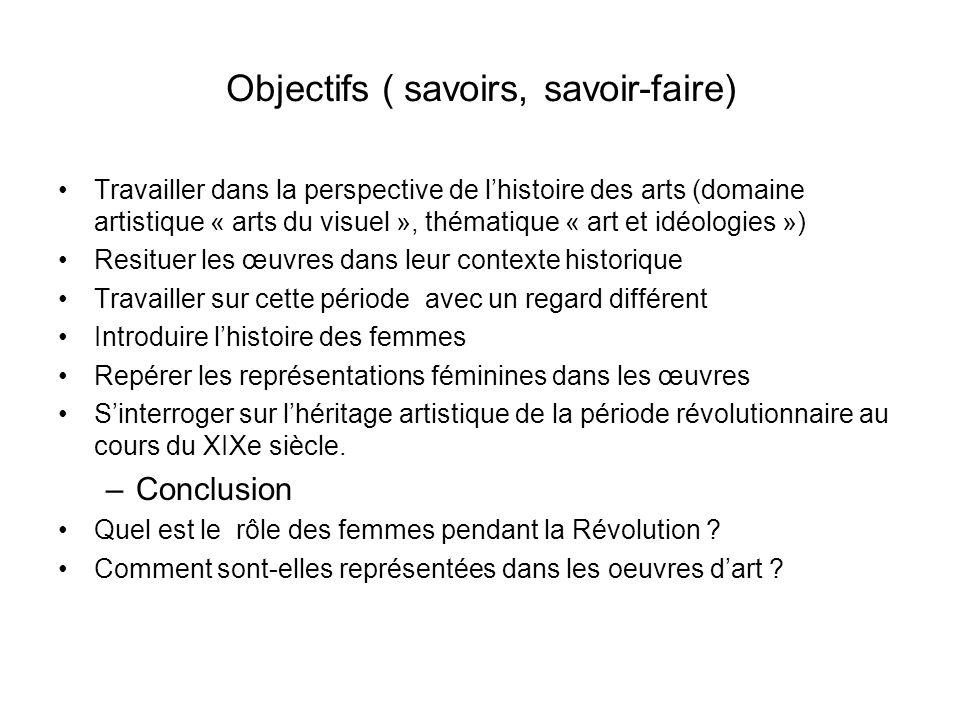 Objectifs ( savoirs, savoir-faire) Travailler dans la perspective de lhistoire des arts (domaine artistique « arts du visuel », thématique « art et id