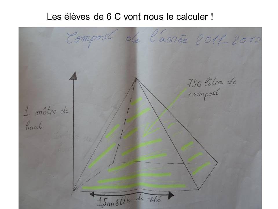 Les élèves de 6 C vont nous le calculer !