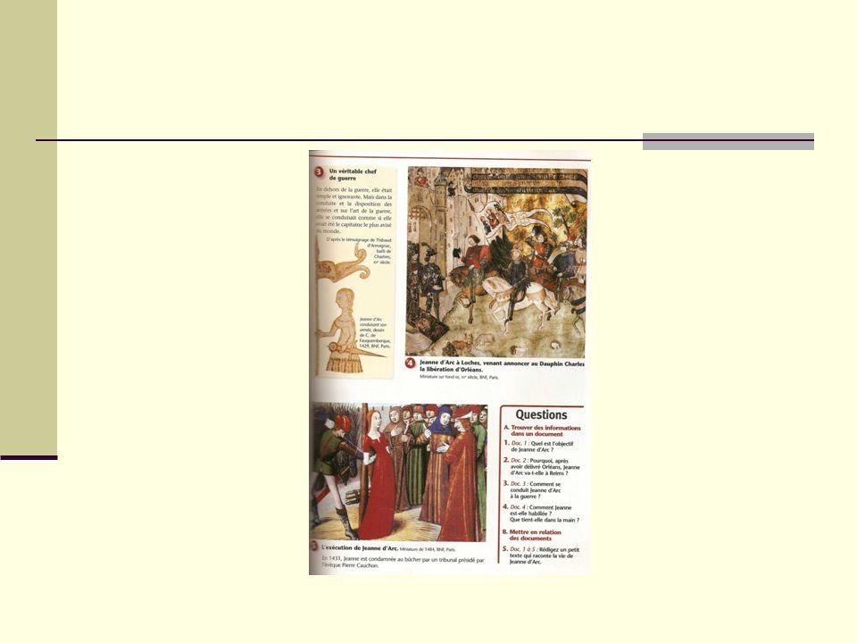 Réflexion sur les conséquences Réflexion avec la classe sur « Comment a évolué le pouvoir royal grâce à la chevauchée de Jeanne.