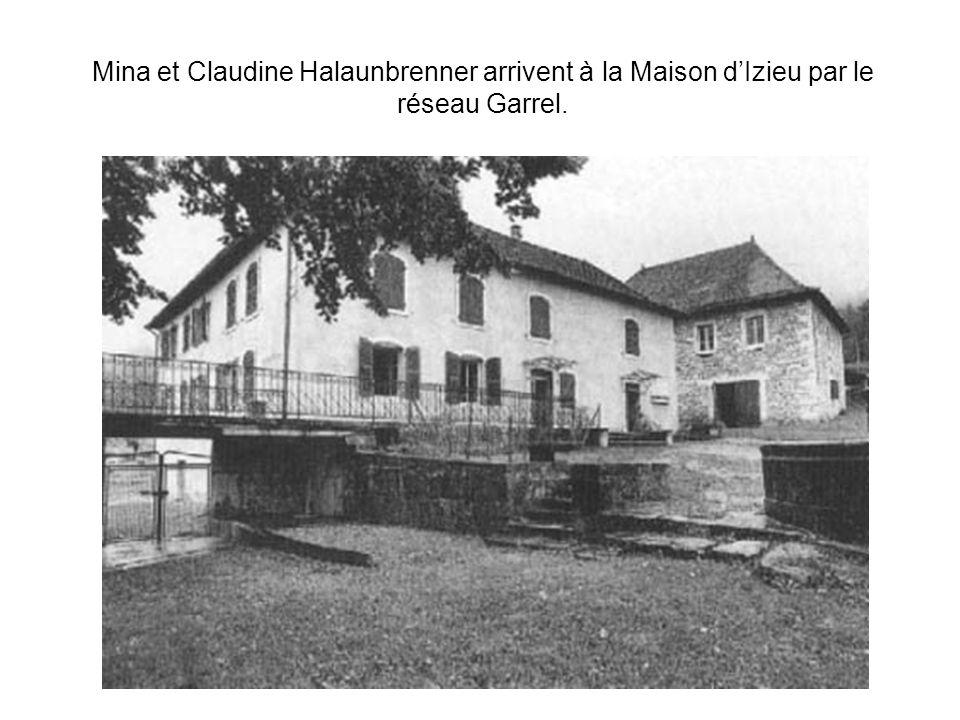 Mina et Claudine Halaunbrenner arrivent à la Maison dIzieu par le réseau Garrel.