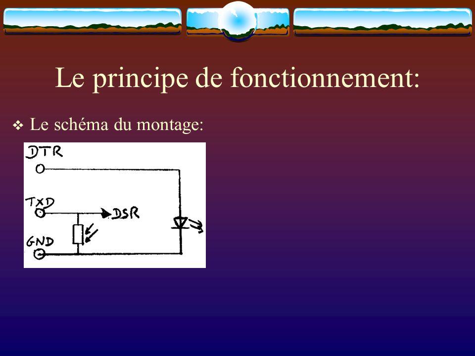 Le principe de fonctionnement: Le schéma du montage: